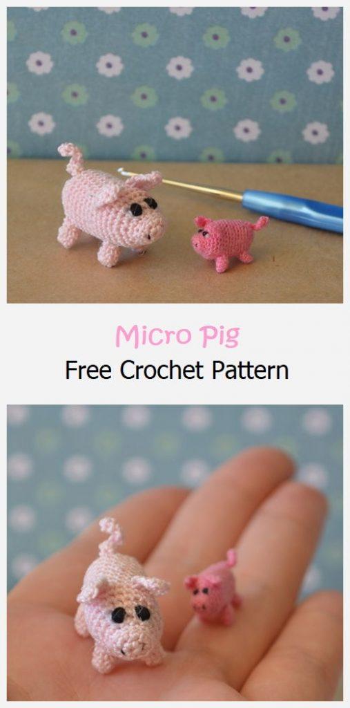 Micro Pig Free Crochet Pattern