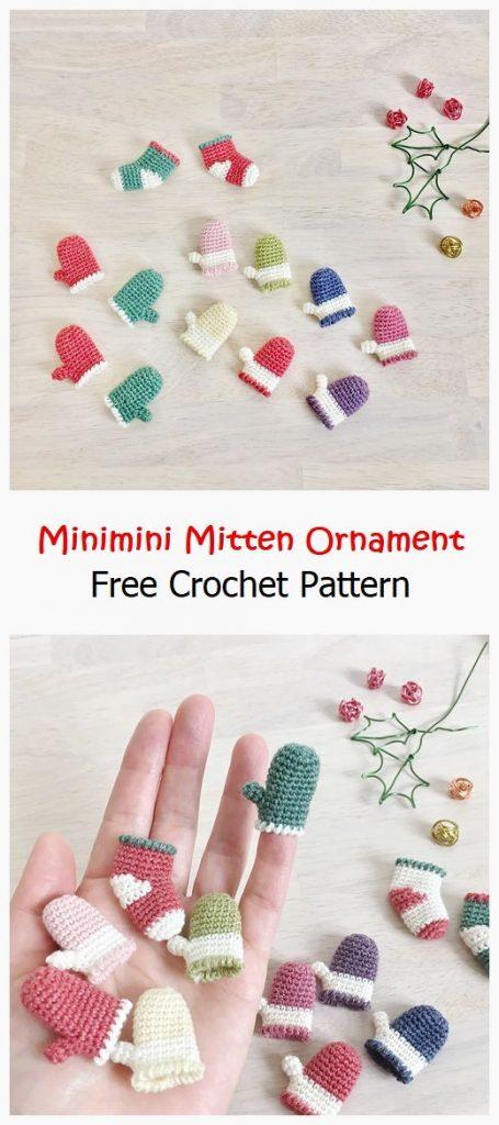 Minimini Mitten Ornament Free Pattern