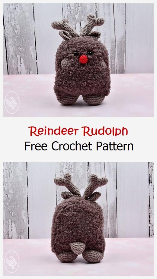 Reindeer Rudolph Free Crochet Pattern