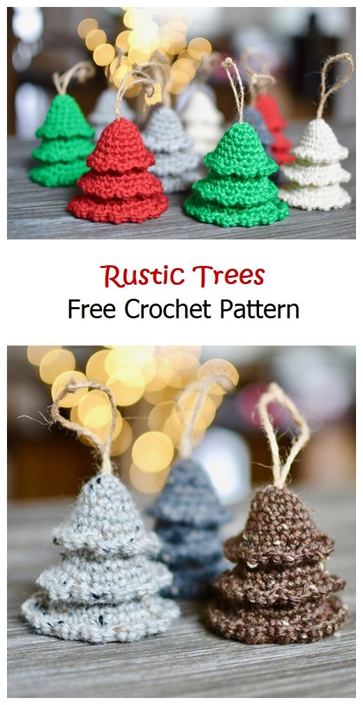 Rustic Trees Free Crochet Pattern