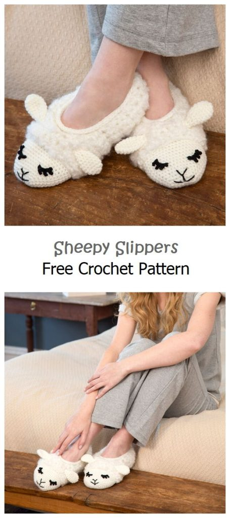 Sheepy Slippers Free Crochet Pattern
