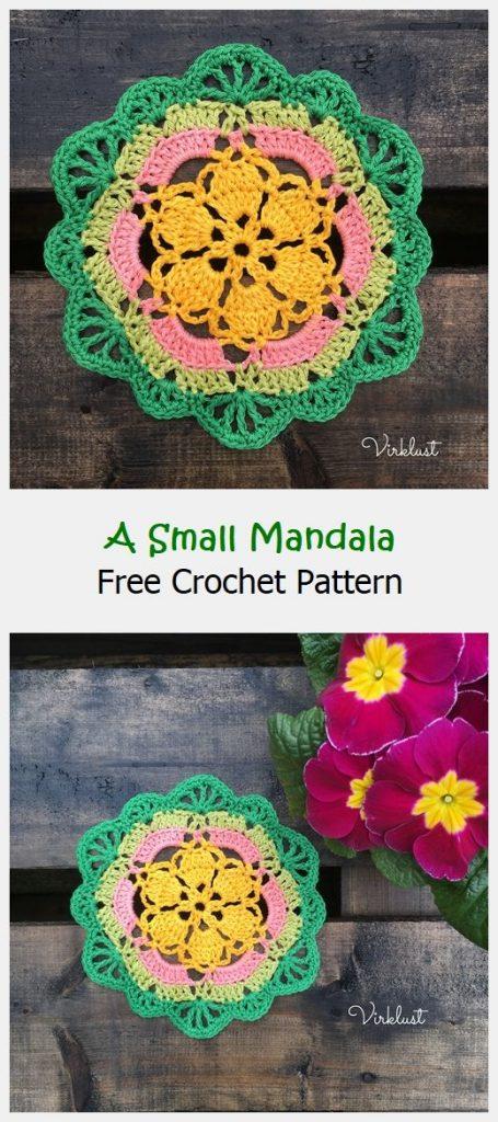 A Small Mandala Free Crochet Pattern