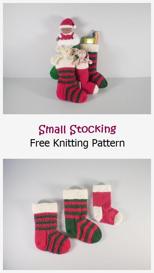 Small Stocking Free Knitting Pattern