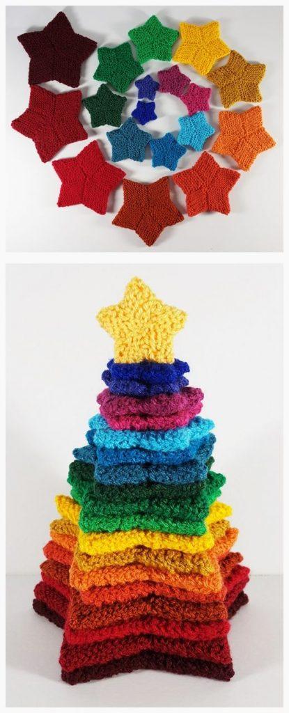 Stacking Stars Free Knitting Pattern