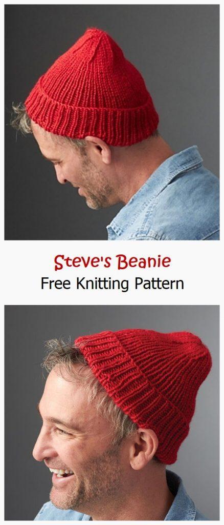 Steve's Beanie Free Knitting Pattern