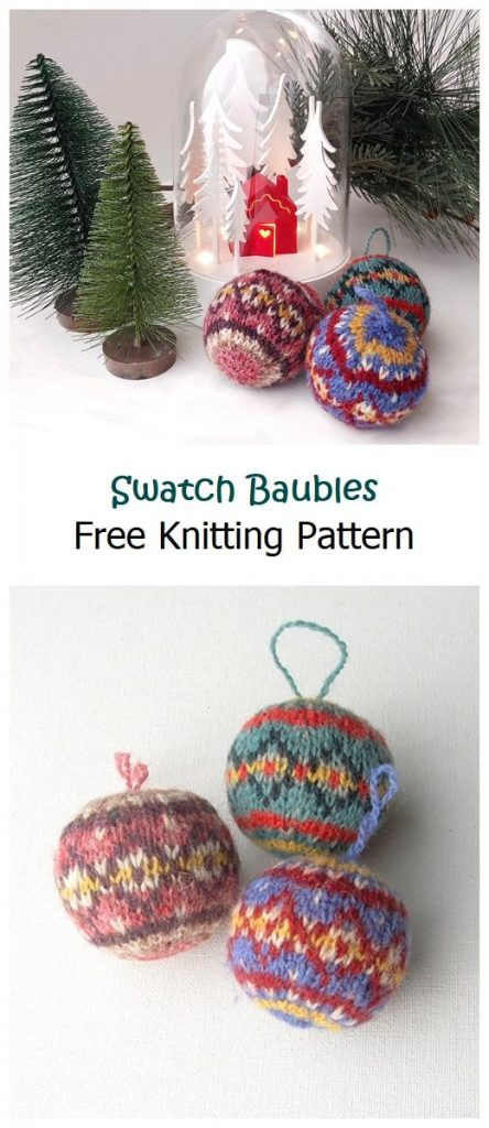 Swatch Baubles Free Knitting Pattern