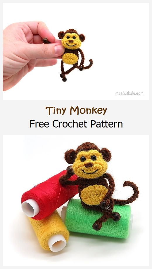Tiny Monkey Free Crochet Pattern
