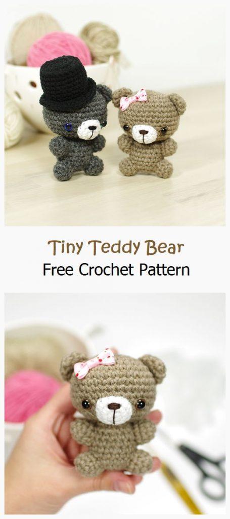 Tiny Teddy Bear Free Crochet Pattern