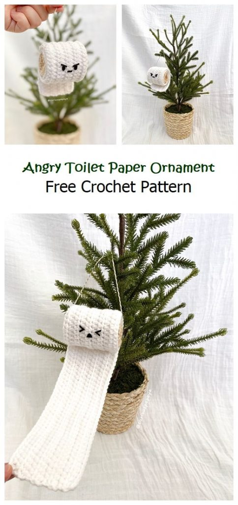 Angry Toilet Paper Ornament Free Pattern