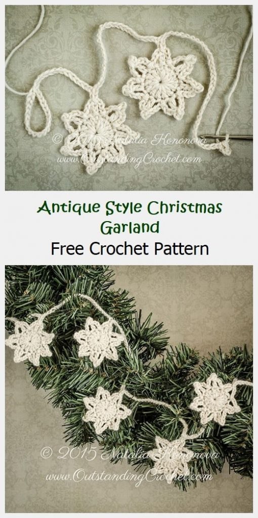 Antique Style Christmas Garland Free Pattern