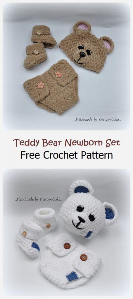 Teddy Bear Newborn Set Free Pattern