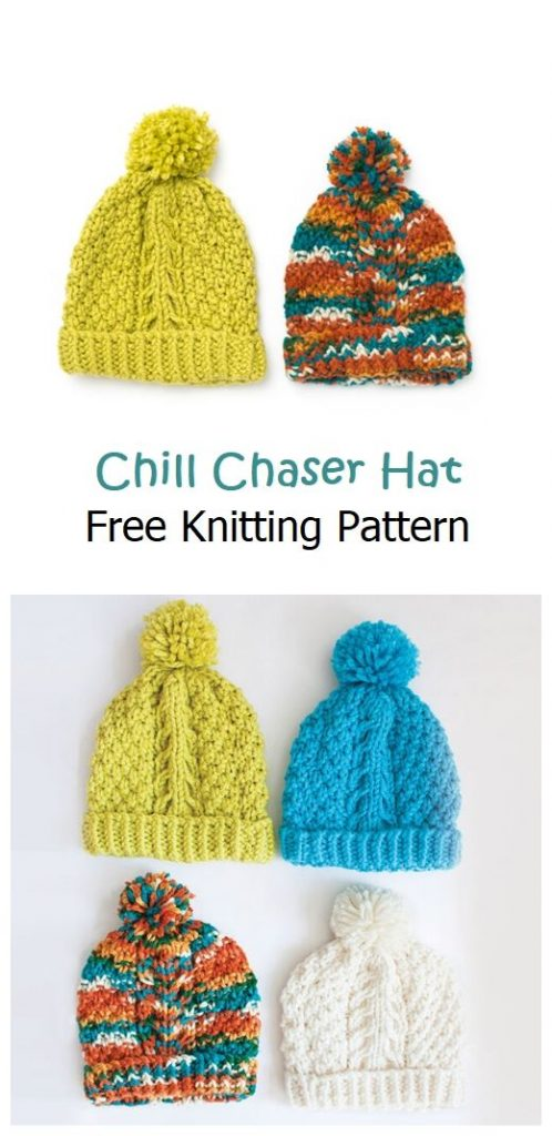 Chill Chaser Hat Free Knitting Pattern