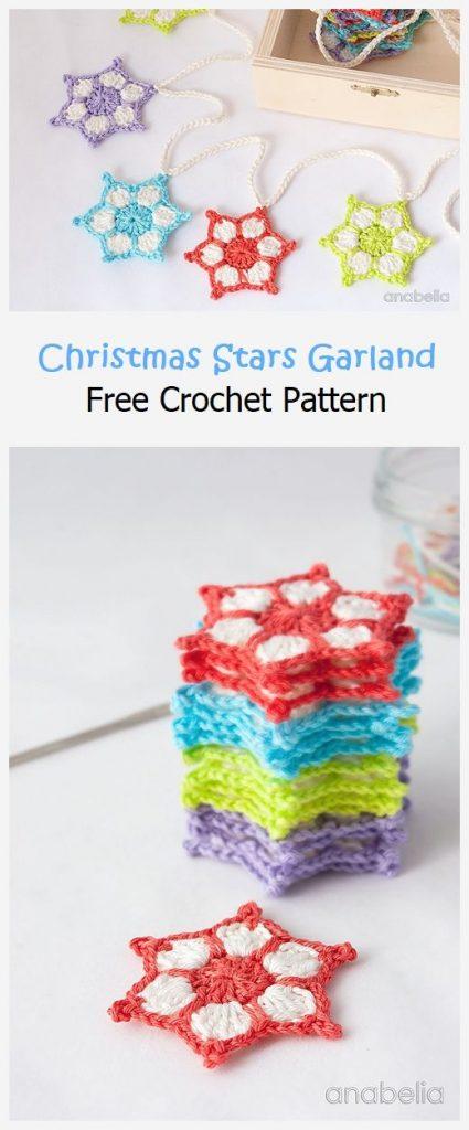 Christmas Stars Garland Free Pattern