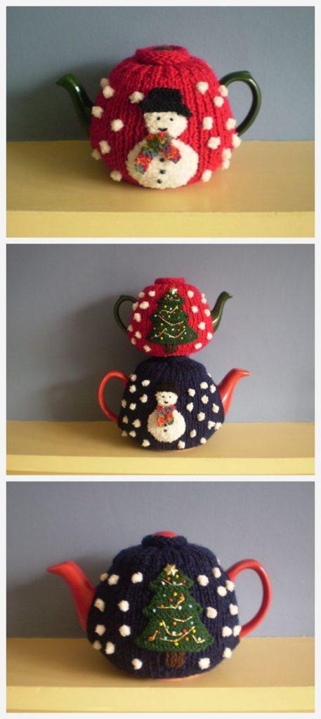 Christmas Tea Cosy Free Knitting Pattern