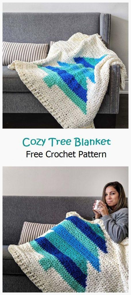 Cozy Tree Blanket Free Crochet Pattern