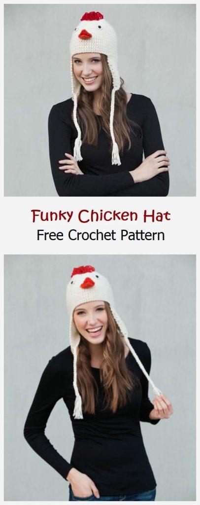 Funky Chicken Hat Free Crochet Pattern