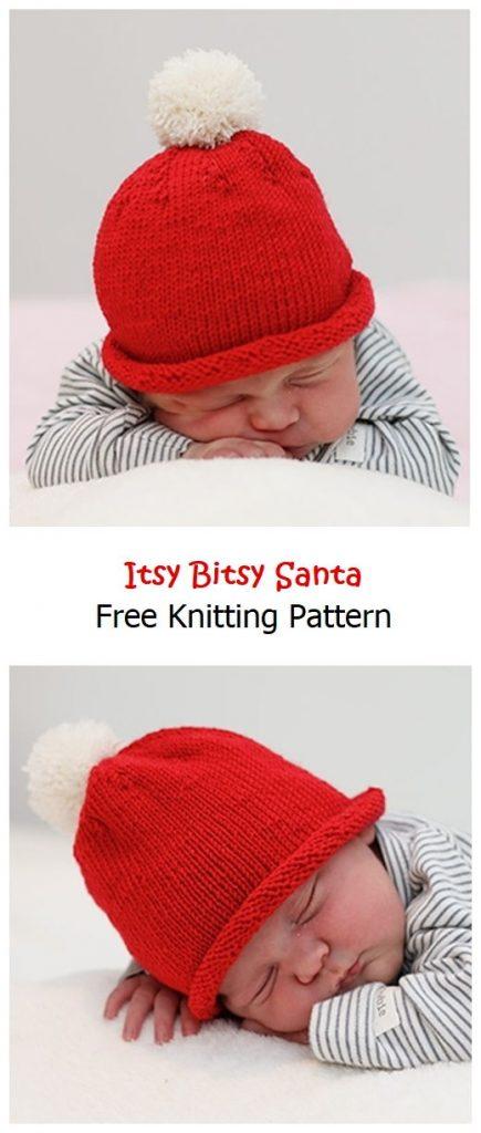Itsy Bitsy Santa Free Knitting Pattern