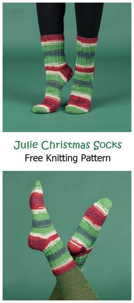 Julie Christmas Socks Free Knitting Pattern