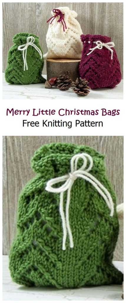 Merry Little Christmas Bags Free Pattern