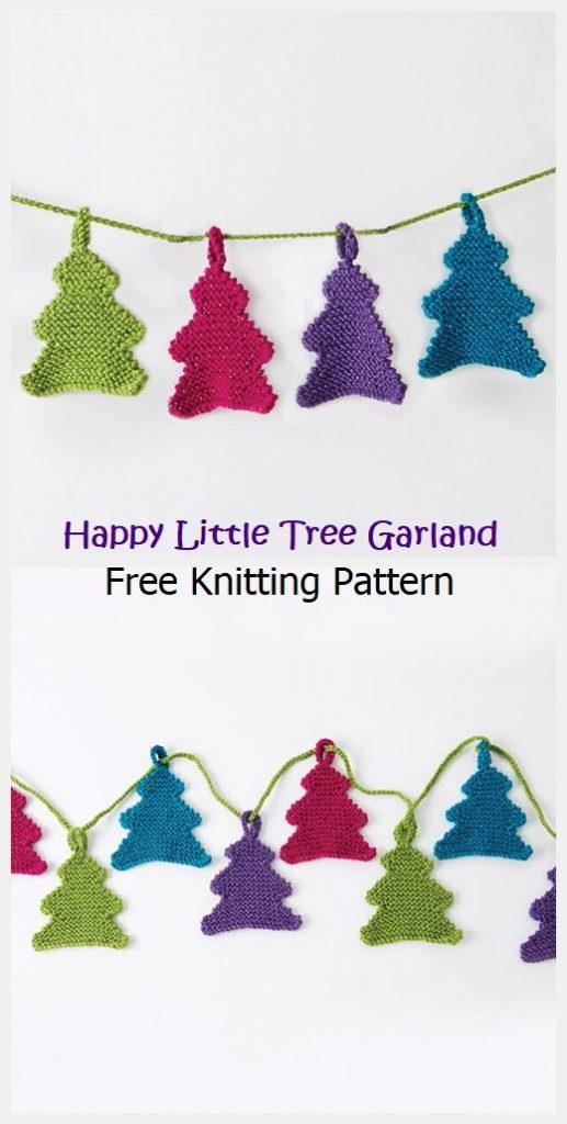 Happy Little Tree Garland Free Pattern