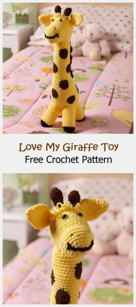 Love My Giraffe Toy Free Crochet Pattern