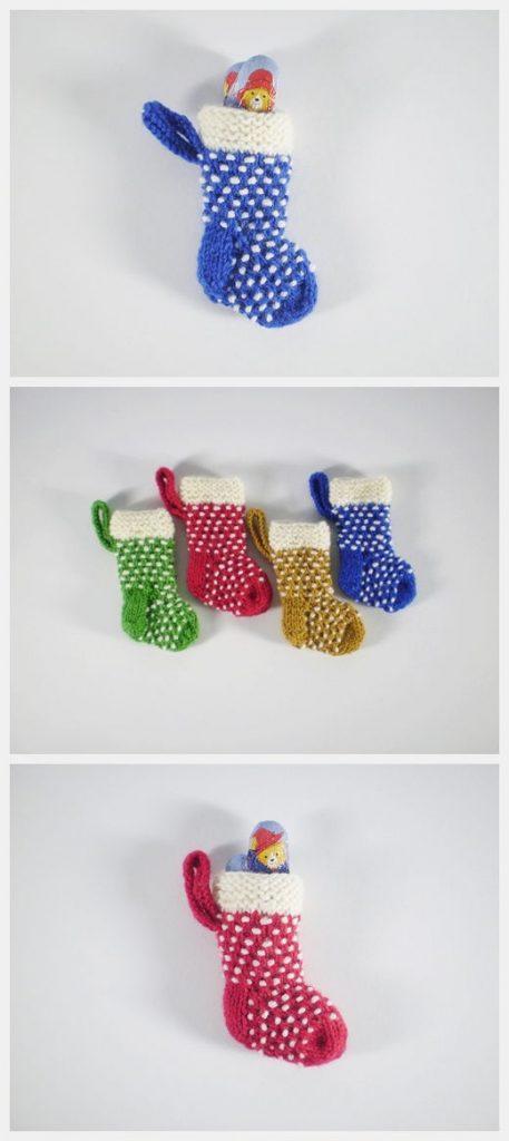 Mini Dotty Stocking Free Knitting Pattern
