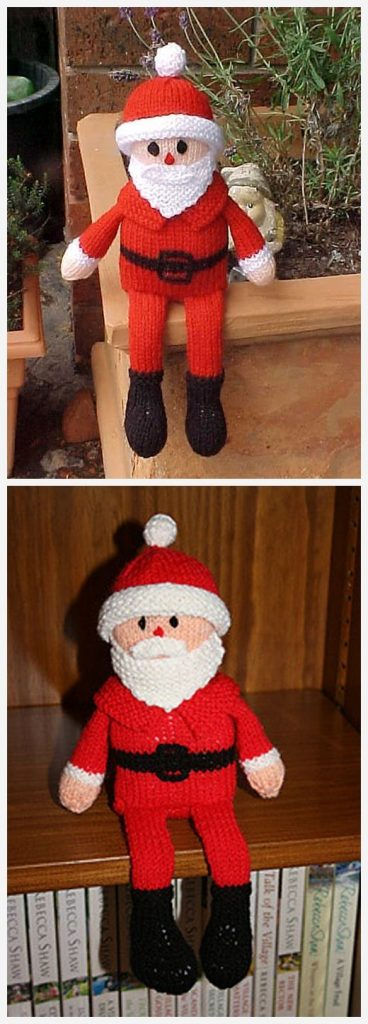 Santa Shelf Doll Free Knitting Pattern