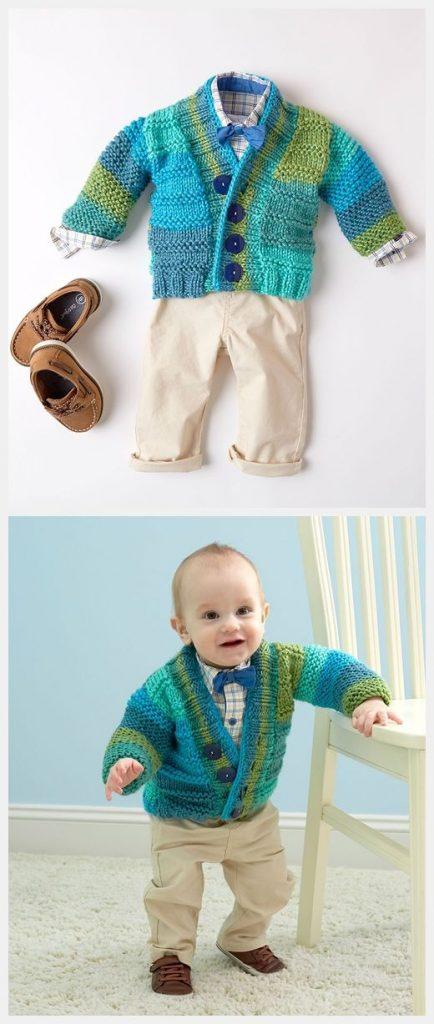 Soft Essentials Baby Cardigan Free Pattern