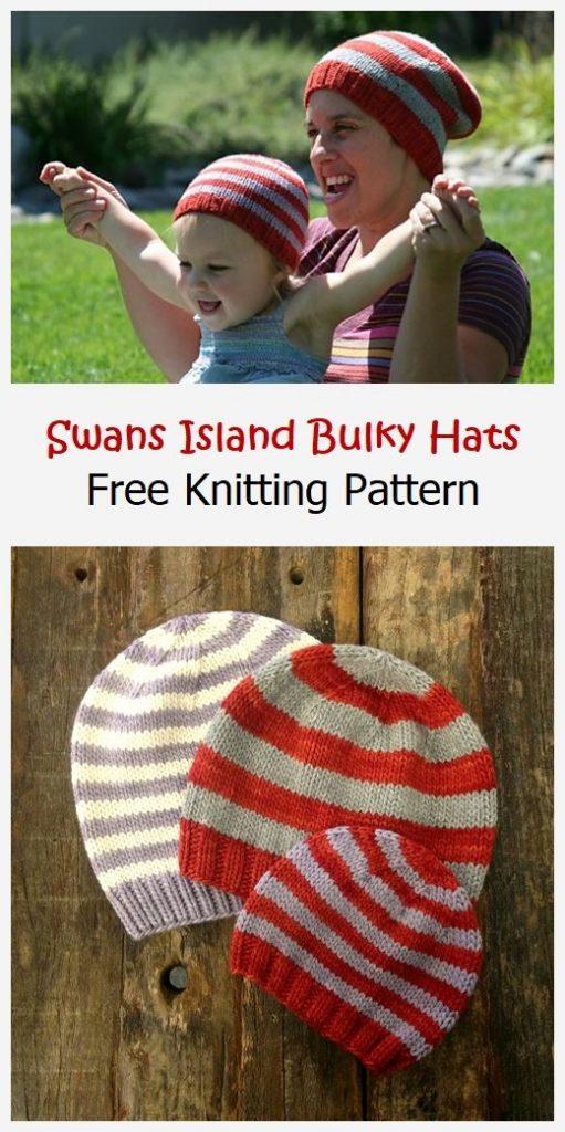 Swans Island Bulky Hats Free Pattern