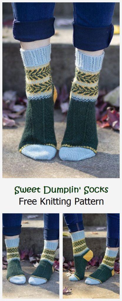 Sweet Dumplin' Socks Free Knitting Pattern