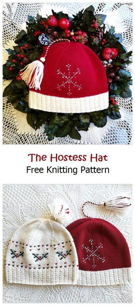 The Hostess Hat Free Knitting Pattern