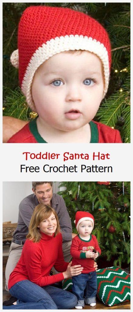 Toddler Santa Hat Free Crochet Pattern