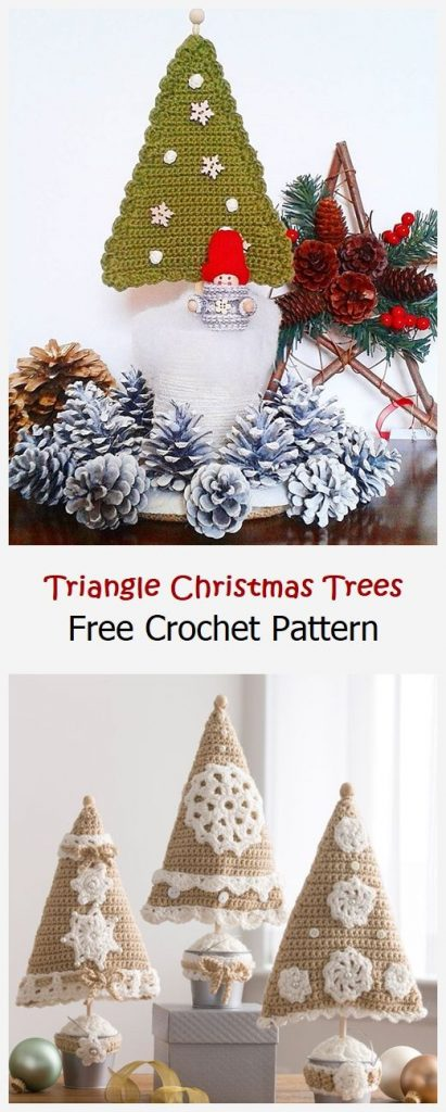 Triangle Christmas Trees Free Crochet Pattern