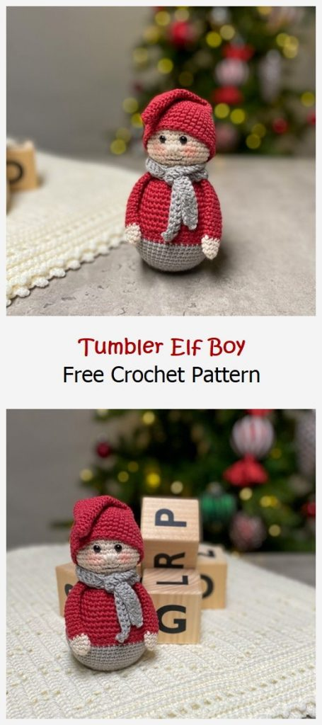 Tumbler Elf Boy Free Crochet Pattern