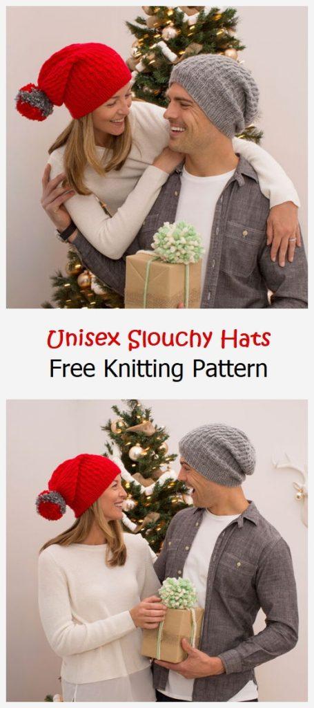 Unisex Slouchy Hats Free Knitting Pattern