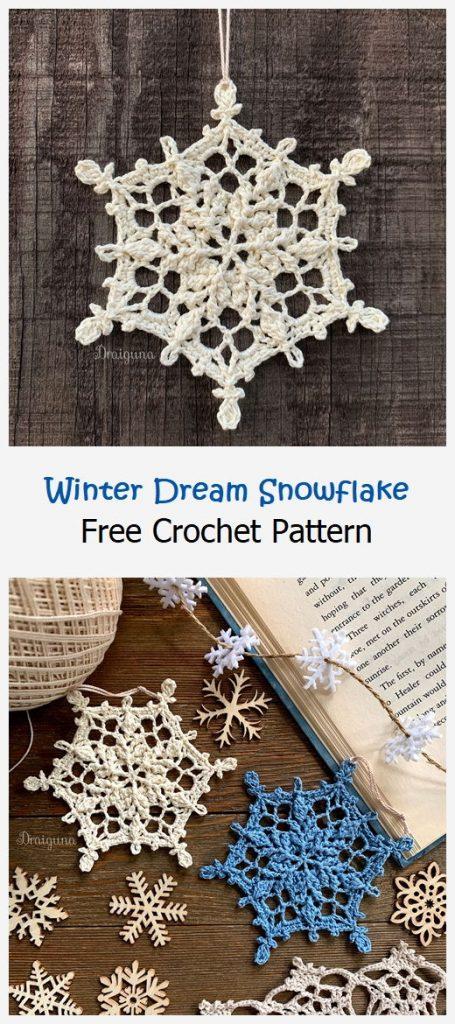 Winter Dream Snowflake Free Pattern