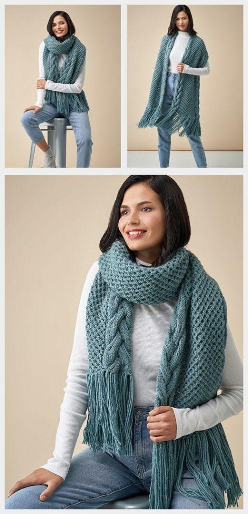 Anitra Scarf Free Knitting Pattern
