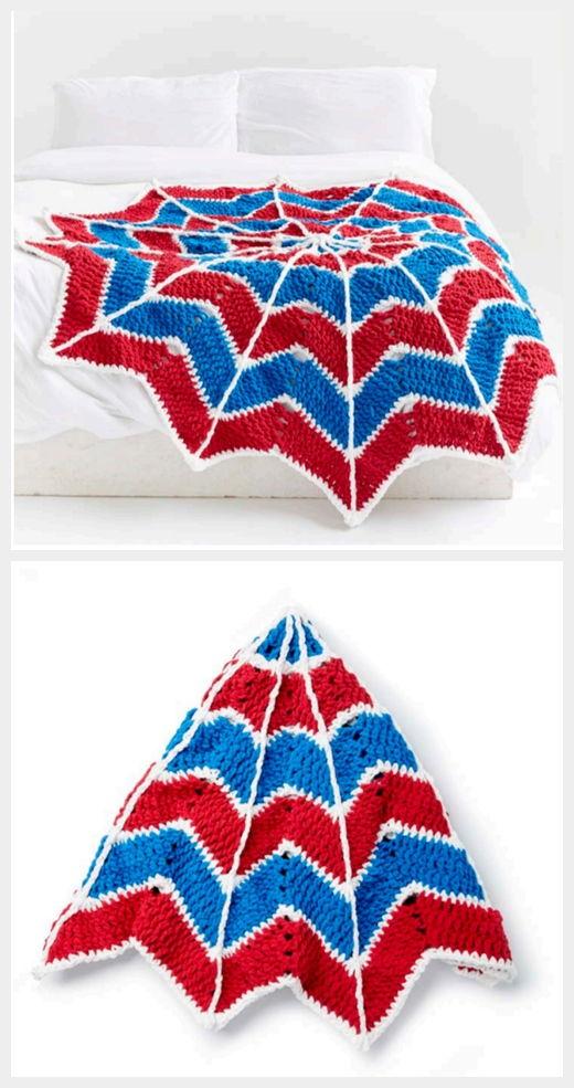 Spiderweb Blanket Free Crochet Pattern