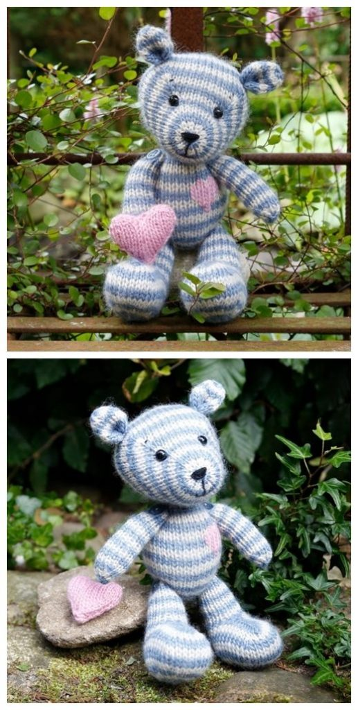 Camille Teddy Free Knitting Pattern