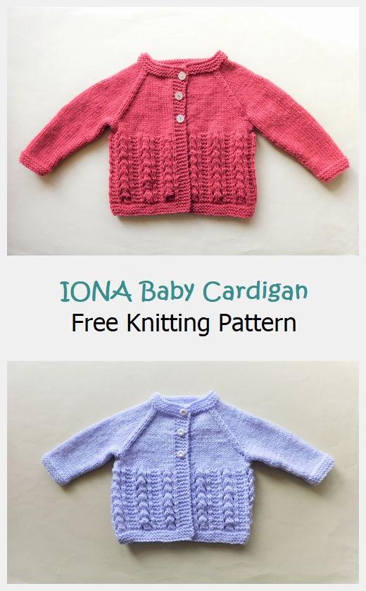 IONA Baby Cardigan Jacket Free Pattern