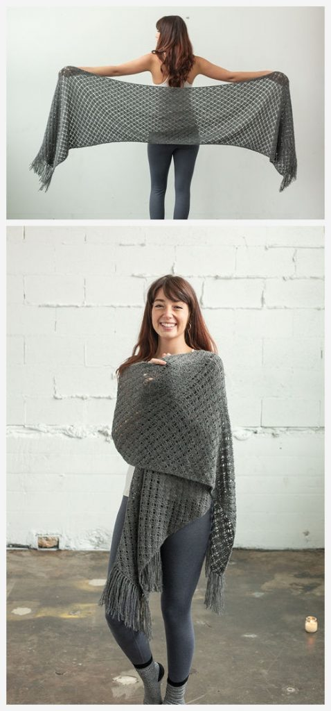 Lattice Lace Shawl Free Crochet Pattern