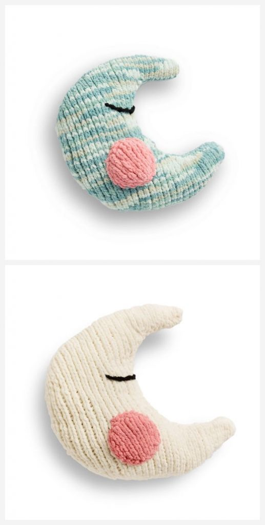 Moon Baby Pillow Free Knitting Pattern