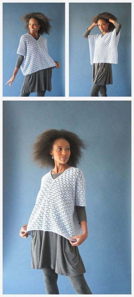 Celeste Poncho Free Crochet Pattern