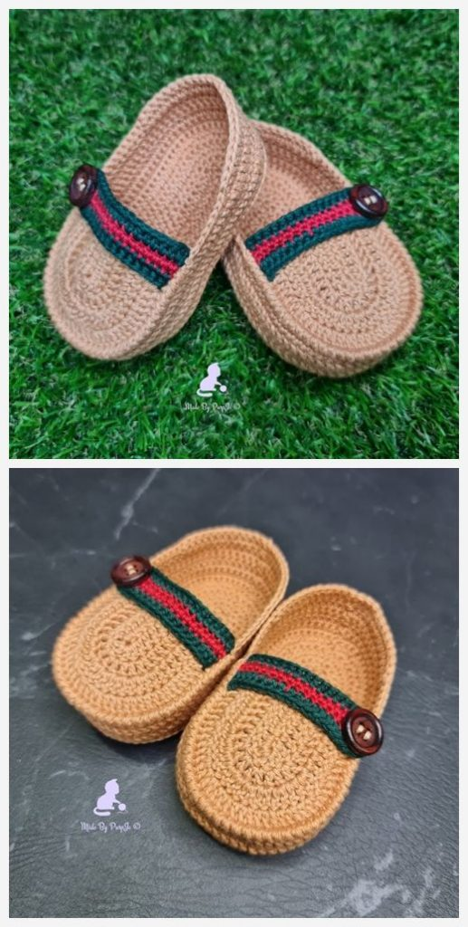My First Loafers Free Crochet Pattern