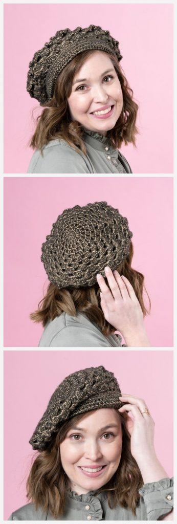 Greta Beret Free Crochet Pattern