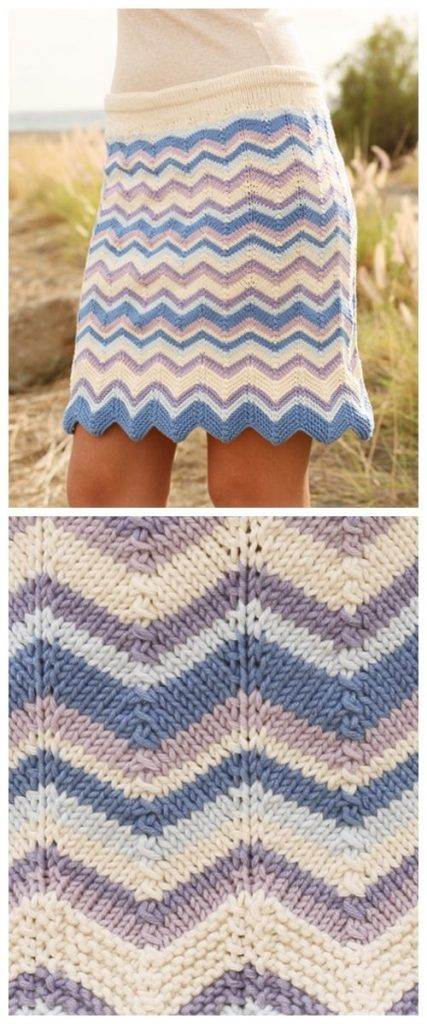 Breaking Waves Skirt Free Knitting Pattern