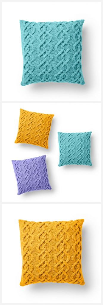 Cable Pillow Free Knitting Pattern