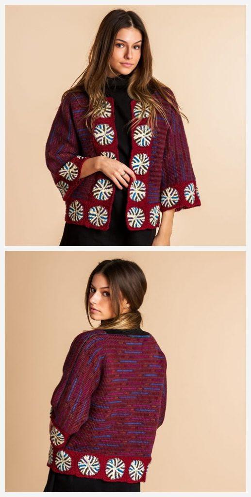 Sigulda Tunisian Jacket Free Crochet Pattern