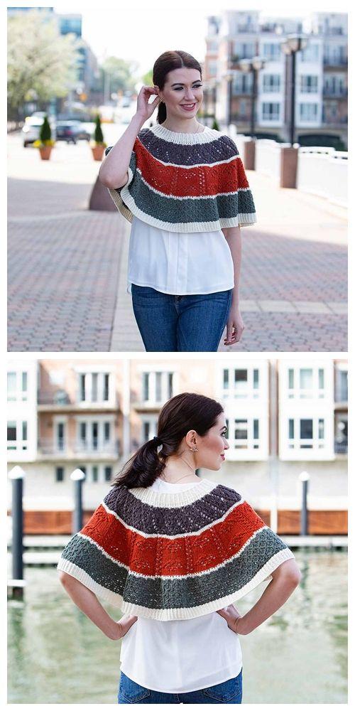 Pi Poncho Free Knitting Pattern