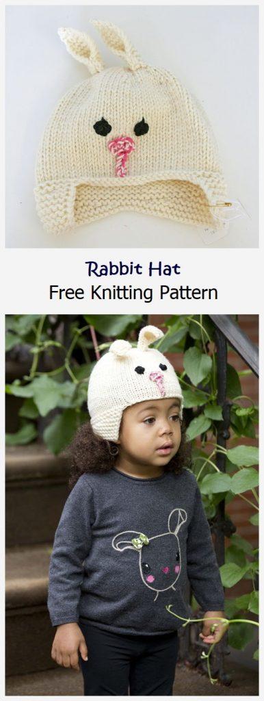 Rabbit Hat Free Knitting Pattern